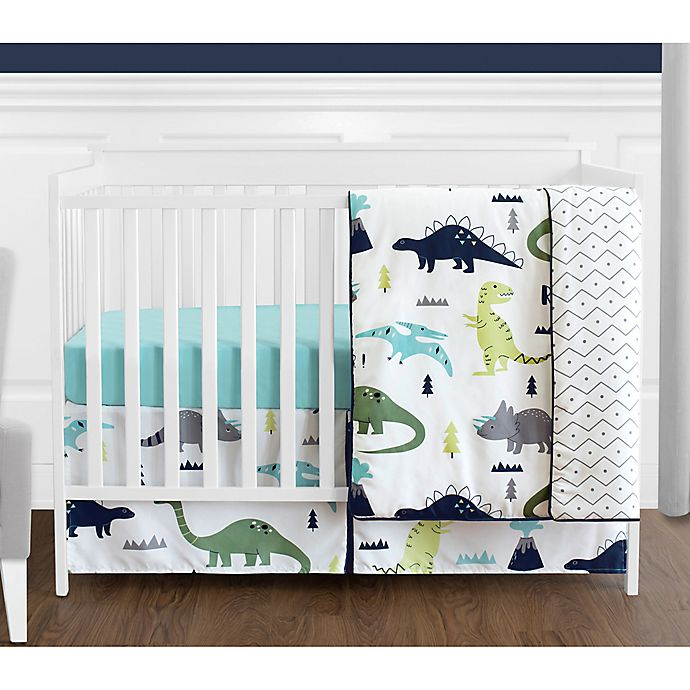 Alternate image 1 for Sweet Jojo Designs Mod Dinosaur 4-Piece Crib Bedding Set