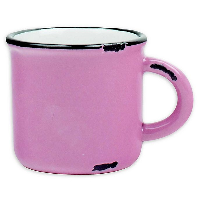 Alternate image 1 for Tinware Espresso Mugs in Pink (Set of 4)