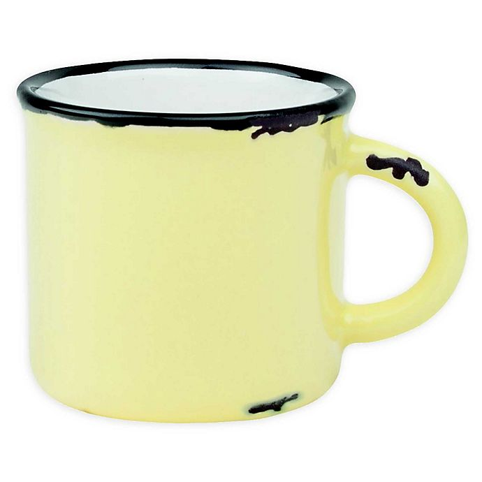 Alternate image 1 for Tinware Espresso Mugs in Yellow (Set of 4)