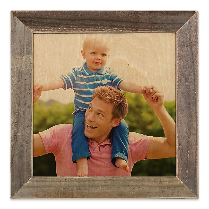 Designs Direct 12 Inch Square Framed Wood Print With 2 Inch Frame