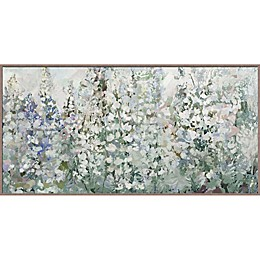 Belle Fleurs 29-Inch x 58-Inch Canvas Framed Wall Art