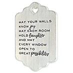 Prinz Shell 14-Inch Square MDF Wood Wall Art in White