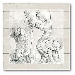 Courtside Market™ Mama Elephant 16-Inch Square Framed Canvas Wall Art