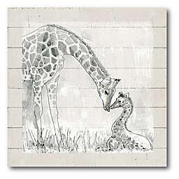 Courtside Market™ Mama Giraffe 16-Inch Square Framed Canvas Wall Art