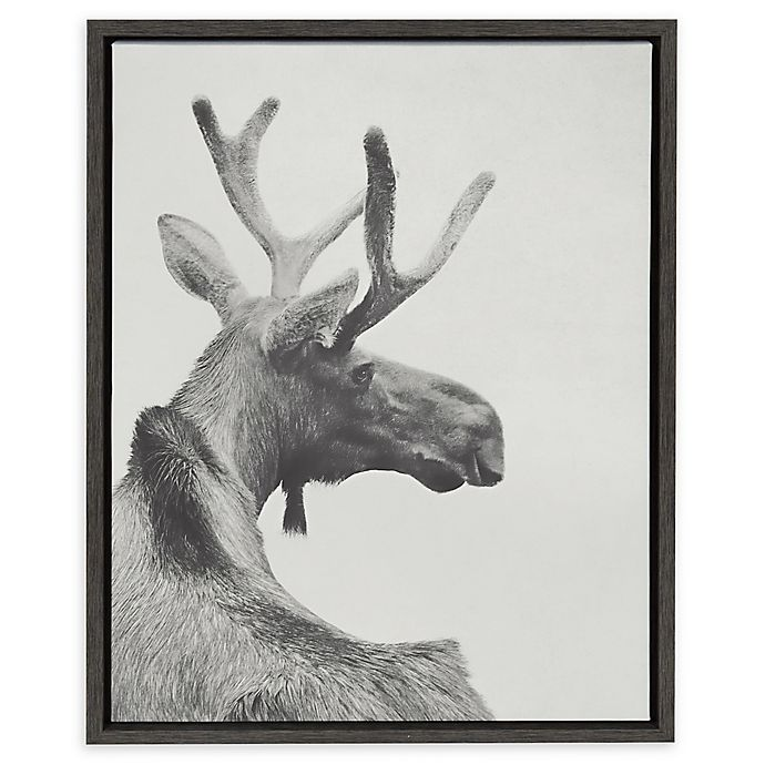 Alternate image 1 for Kate and Laurel Sylvie Moose Back 18-Inch x 24-Inch Framed Canvas Wall Art