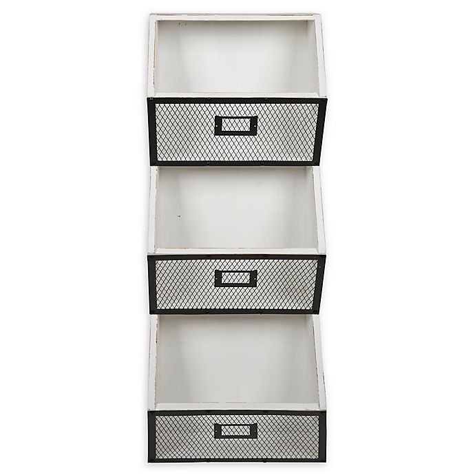 Alternate image 1 for Kate and Laurel™ Burdock 3-Pocket Wall Organizer in White