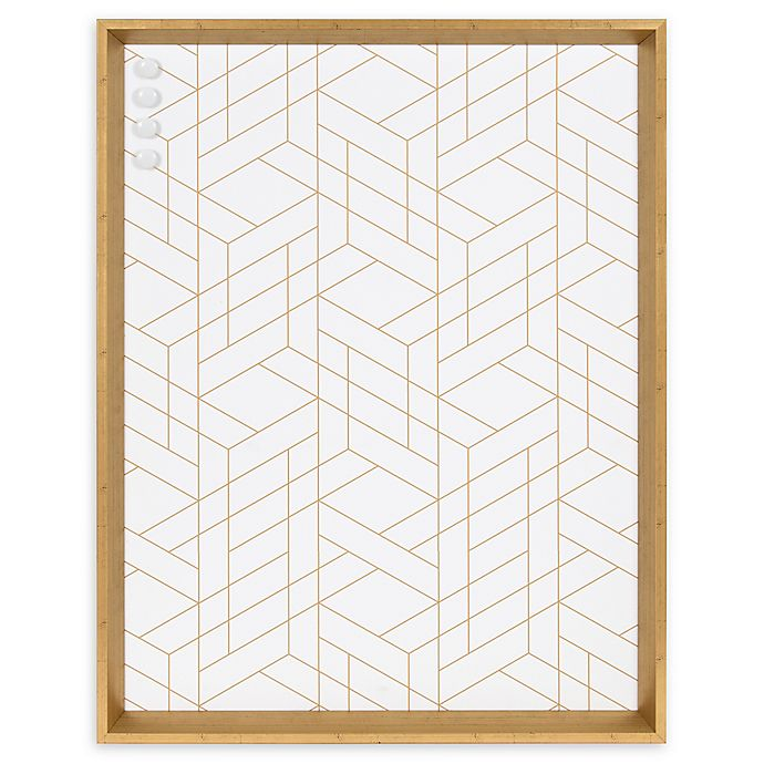 Alternate image 1 for Kate and Laurel Calder Geometric 21.5-Inch x 27.5-Inch Framed Magnetic Board in White