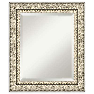 Amanti Art Fair Baroque Cream Framed Bathroom Mirror