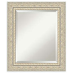 Amanti Art Fair Baroque Cream Framed Bathroom Mirror