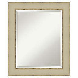 Amanti Art Rusted Cream Framed Bathroom Mirror