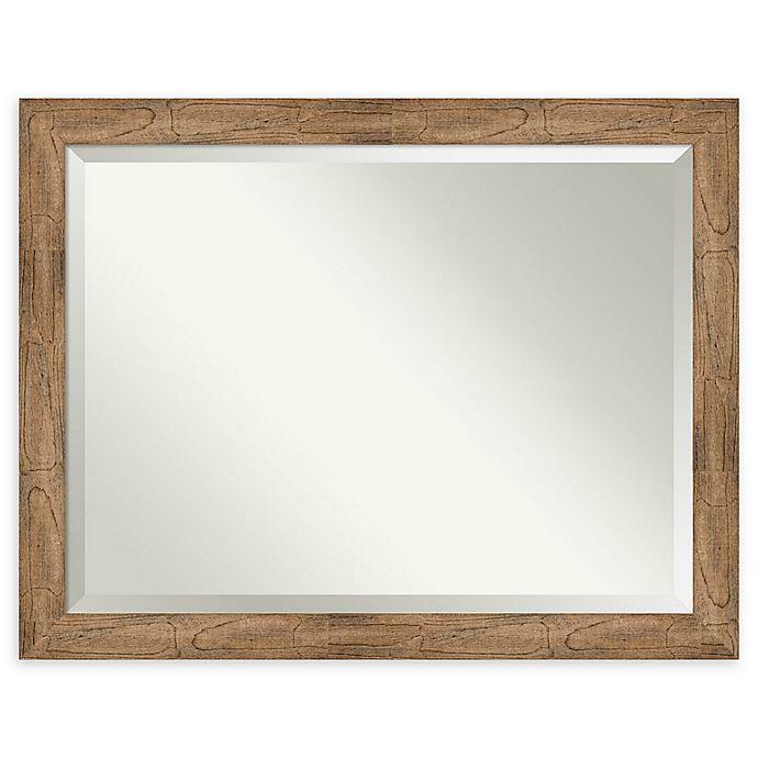 Alternate image 1 for Amanti Art Owl Brown 45-Inch x 35-Inch Framed Bathroom Mirror