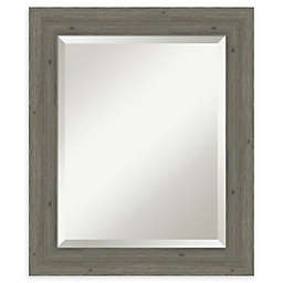 Amanti Art Narrow Fencepost Grey Framed Bathroom Mirror