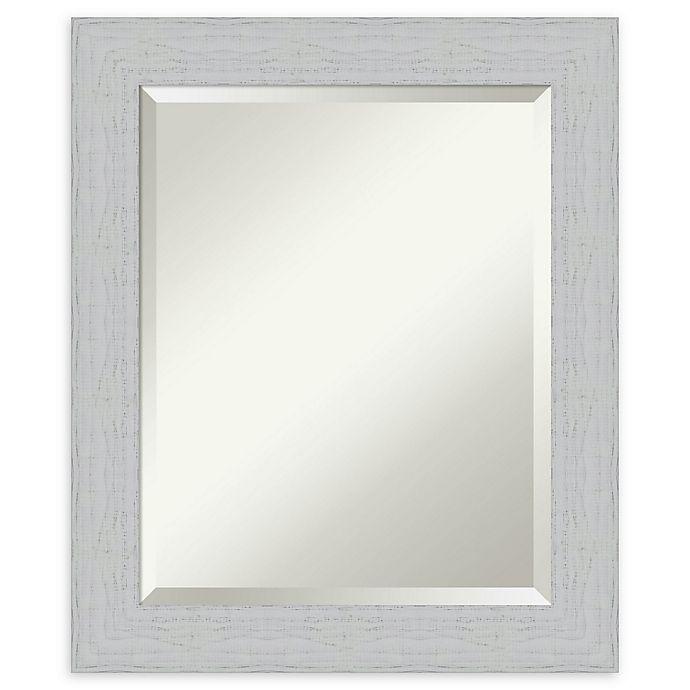Alternate image 1 for Amanti Art Shiplap White Framed Bathroom Mirror