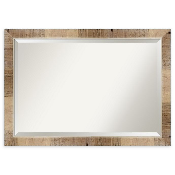 Alternate image 1 for Amanti Art Natural White Wash 40-Inch x 28-Inch Framed Bathroom Mirror