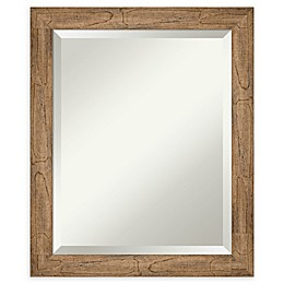 Amanti Art Narrow Owl Brown Framed Bathroom Mirror