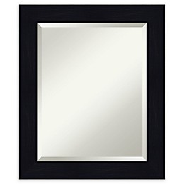 Amanti Art Shiplap Framed Bathroom Mirror in Navy