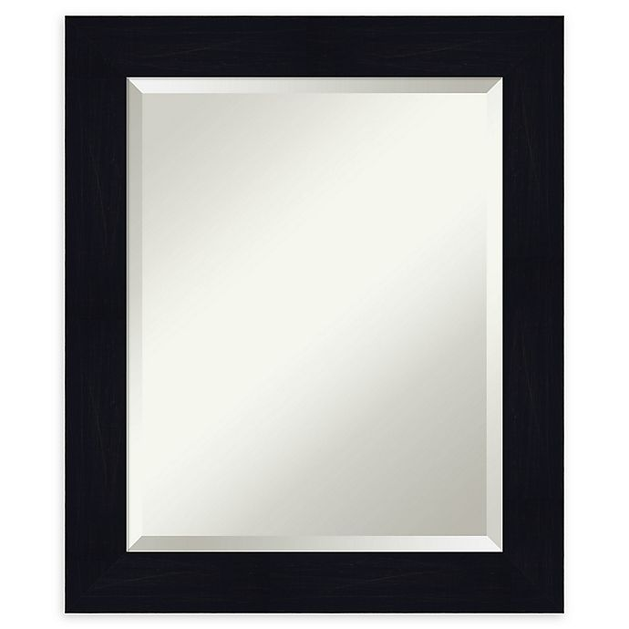 Alternate image 1 for Amanti Art Shiplap Framed Bathroom Mirror in Navy
