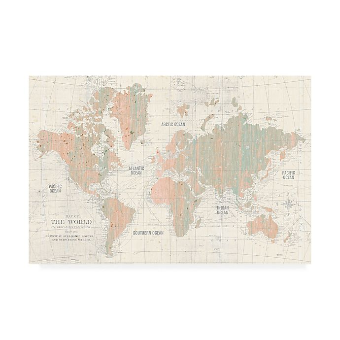 Alternate image 1 for Trademark Fine Art Old World Map 12-Inch x 19-Inch Canvas Wall Art