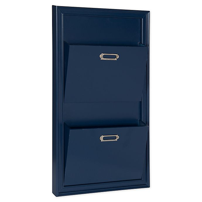 Alternate image 1 for Kate and Laurel Walcott 2-Pocket Wall Organizer in Navy