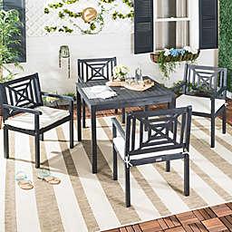 Safavieh Del Mar 5-Piece Outdoor Dining Set in Slate Grey