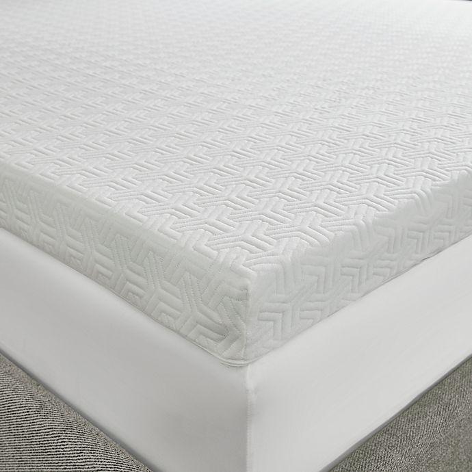 Alternate image 1 for Sleep Philosophy Flexapedic 3-Inch Memory Foam Twin Mattress Topper in White