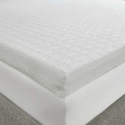 Sleep Philosophy Flexapedic 3-Inch Memory Foam Mattress Topper in White