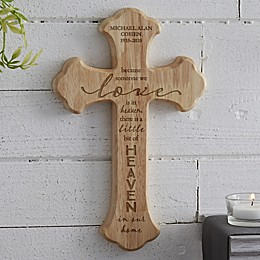 Heaven In Our Home Personalized Wood Cross