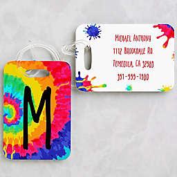 Tie-Dye Fun Personalized Luggage Tag 2-Piece Set
