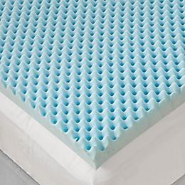 Sleep Philosophy Flexapedic 3-Inch Gel Foam Egg Crate Topper in Blue