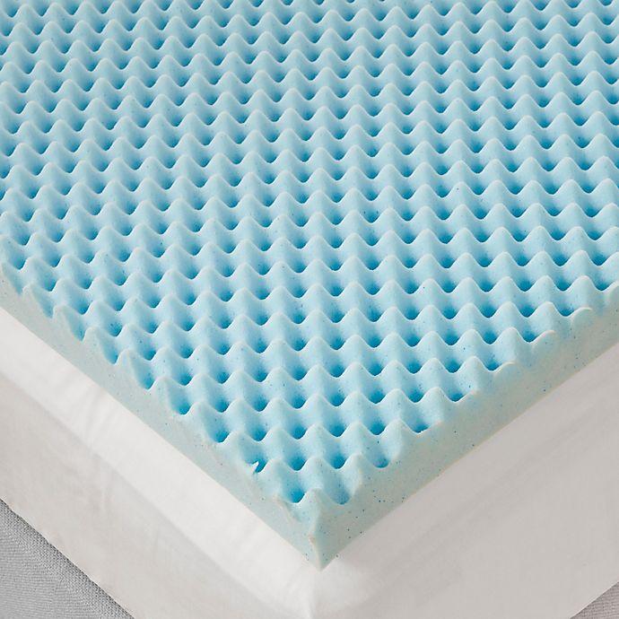 Alternate image 1 for Sleep Philosophy Flexapedic 3-Inch Gel Foam Egg Crate Topper in Blue