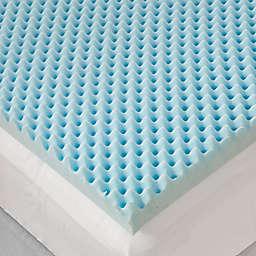 Sleep Philosophy Flexapedic 3 Inch Gel Foam Egg Crate Topper In Blue