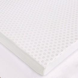 Sleep Philosophy Flexapedic 3-Inch Gel Memory Foam Mattress Topper in White