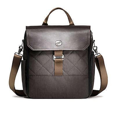 Paperclip Bear Diaper Bag in Charcoal Black