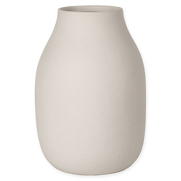 Alternate image 1 for Blomus COLORA 7.88-Inch Round Storage Canister in Moonbeam