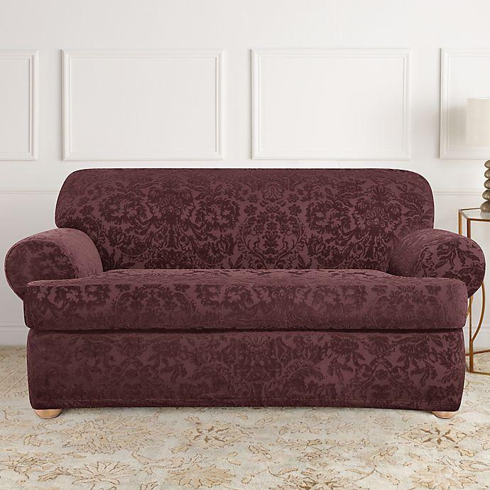 Sure Fit 174 Stretch Jacquard T Cushion 2 Piece Loveseat