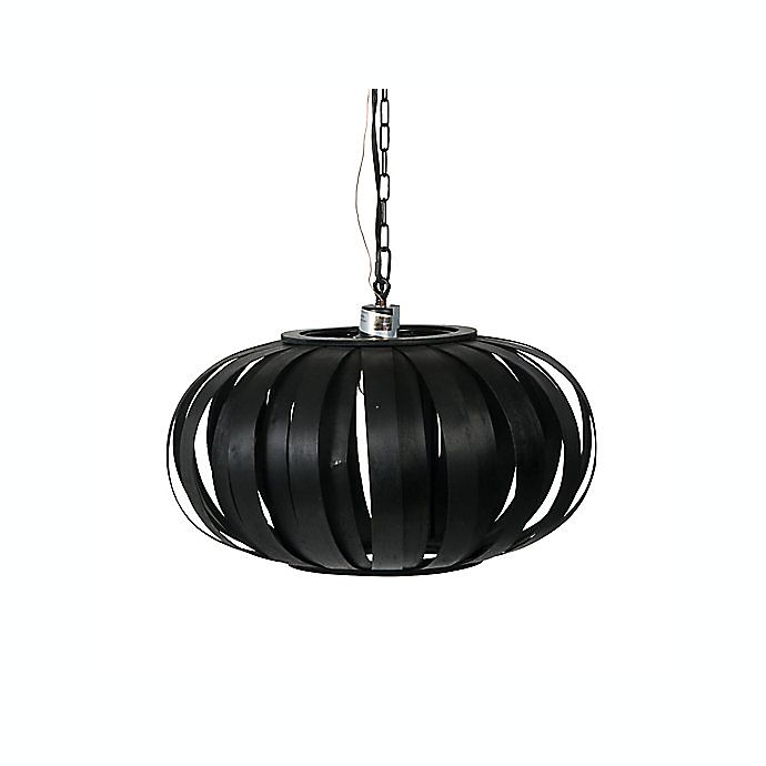 Alternate image 1 for A&B Home 10.4-Inch Bamboo Lantern in Black