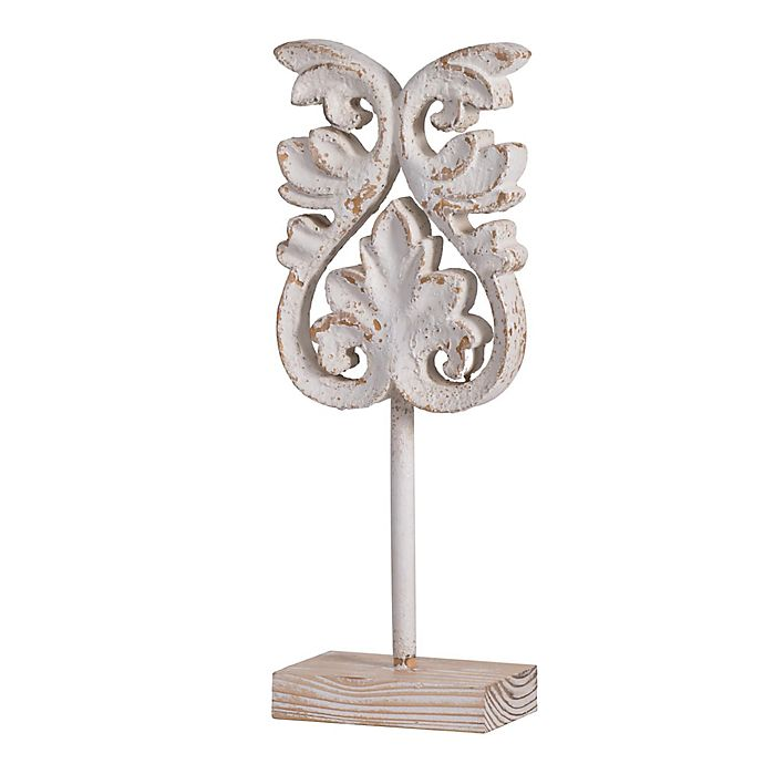 Alternate image 1 for Kawan Fleur Wooden Decorative Accent in White