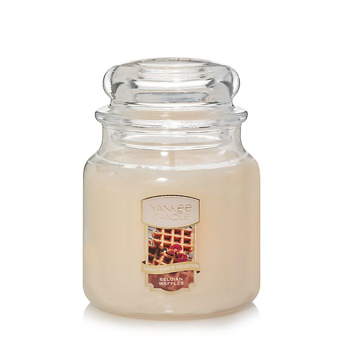 Alternate image 1 for Yankee Candle® Housewarmer® Belgian Waffles Medium Classic Jar Candle