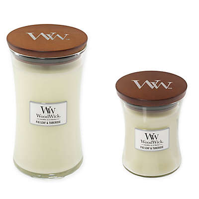 WoodWick® Fig Leaf & Tuberose Candle Collection
