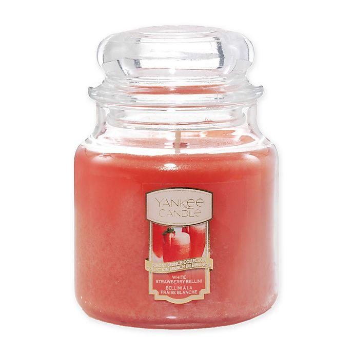 Alternate image 1 for Yankee Candle® White Strawberry Bellini 14.5 oz. Medium Classic Jar Candle