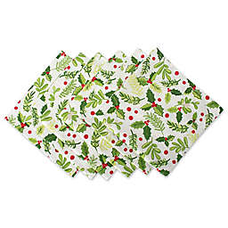 Design Imports Boughs of Holly Napkins (Set of 6)