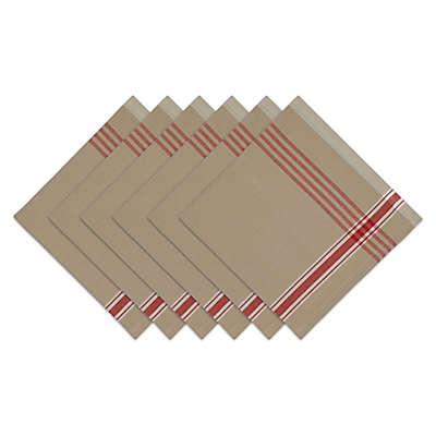 Design Imports Joyeux Noel Plaid Napkins (Set of 6)