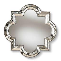 Baxton Studio Leroi Quatrefoil Accent Mirror in Silver