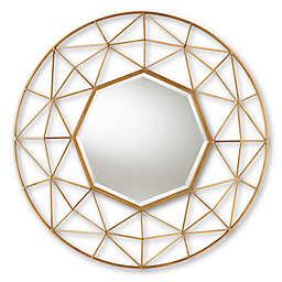 Baxton Studio Oddo Geometric Accent Mirror in Gold