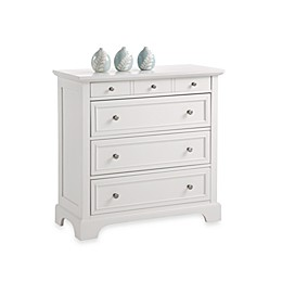 Home Styles Naples 4-Drawer Chest in White