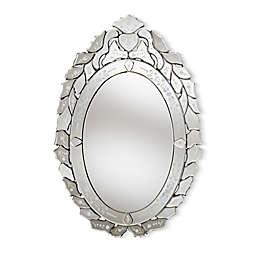 Baxton Studio Dana Venetian Mirror in Silver