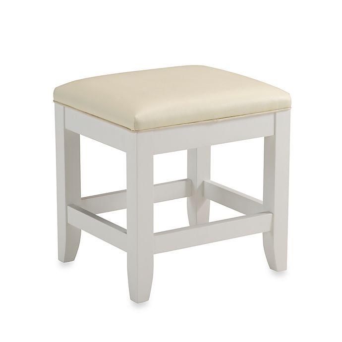 Alternate image 1 for Home Styles Naples White Vanity Bench