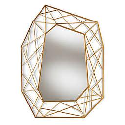 Baxton Studio 30-Inch x 40-Inch Achilles Wall Mirror in Gold