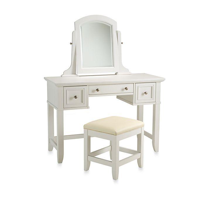 Home Styles Naples White Vanity Set