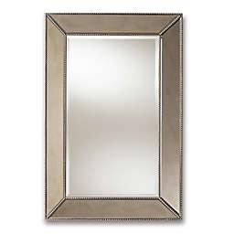 Baxton Studio Callias Accent Mirror in Silver